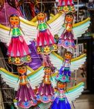 Kolorowe Meksykańskie anioł pamiątki San Miguel De Allende Meksyk Obraz Stock