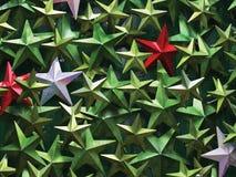 kolorowe metal gwiazdy Fotografia Stock