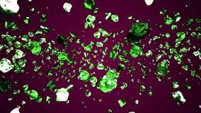 Kolorowe metal wody krople rozprzestrzeniali w astronautycznych cyfrowych ilustracyjnych t?o ilo?ci nowych naturalnych grafika ch ilustracji
