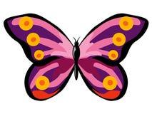 kolorowe motylie purpurowy Zdjęcie Stock