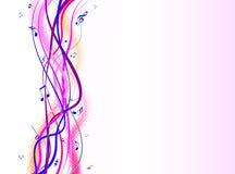 kolorowe muzyczne notatki Zdjęcia Royalty Free