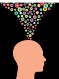 kolorowe myśli ilustracji