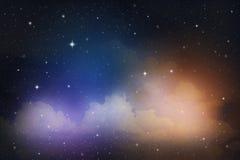 kolorowe nocne niebo Zdjęcie Stock