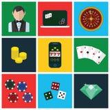 Kolorowe nowożytne wektorowe płaskie ikony ustawiać ilość Obraz Royalty Free