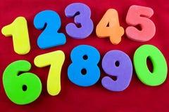 kolorowe numery Zdjęcia Stock