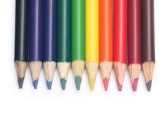 kolorowe ołówki Zdjęcie Stock