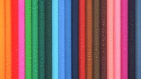 kolorowe ołówki niebieskie oczy, piaskowe abstrakcyjne tło Obrazy Royalty Free