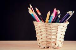 kolorowe ołówki odłogowania Obraz Royalty Free