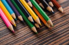 kolorowe ołówki odłogowania Obraz Stock