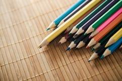 kolorowe ołówki odłogowania Zdjęcie Stock