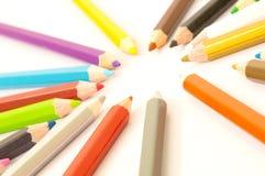 kolorowe ołówek Obraz Royalty Free