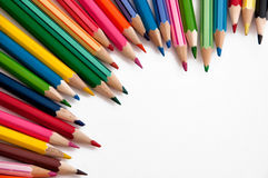 kolorowe ołówki Zdjęcia Stock