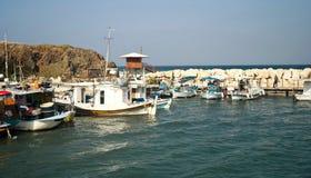 Kolorowe łodzie rybackie Zdjęcia Royalty Free