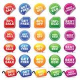 kolorowe odznak etykietki Fotografia Stock