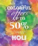 Kolorowe oferty na holi świętowaniu ilustracji