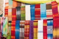 Kolorowe orientalne tkaniny Obrazy Royalty Free