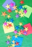 Kolorowe Origami gwiazdy obraz stock