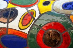 Kolorowe płytki, sztuka w Praga Zdjęcie Stock