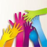 Kolorowe paited ręki Zdjęcia Royalty Free