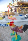 Kolorowe pamiątki w Punta Cana plaży, republika dominikańska zdjęcia stock