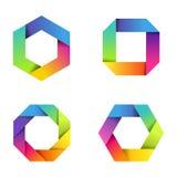 Kolorowe papierowe ikony Zdjęcia Stock