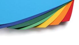 Kolorowe papierowe karciane krawędzie Fotografia Stock