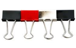Kolorowe papierowe klamerki Zdjęcia Stock