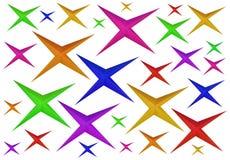 Kolorowe papierowe origami gwiazdy Zdjęcie Royalty Free
