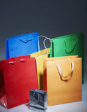 Kolorowe Papierowe torby Zdjęcie Stock