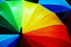 kolorowe parasole Obrazy Royalty Free