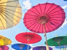 kolorowe parasolkę fotografia stock