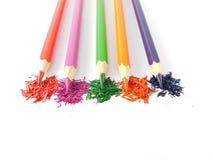 kolorowe pięć ołówków obrazy stock