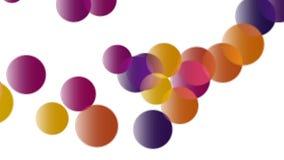 Kolorowe piłki odbija się od ziemi - bezszwowa pętli animacja zdjęcie wideo