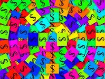 kolorowe pieniądze Obraz Stock