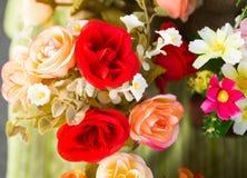 Kolorowe plastikowe róże Fotografia Royalty Free