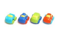Kolorowe plastikowe samochód zabawki Zdjęcie Royalty Free