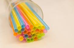 kolorowe plastikowe tubki Fotografia Stock
