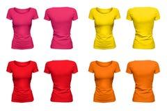 Kolorowe pogodne koszulki Fotografia Royalty Free