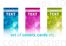 kolorowe pokrywy ustawiają Zdjęcie Stock