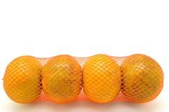 Kolorowe pomarańcze w czerwonej klingeryt sieci Obraz Royalty Free