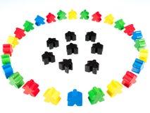 Kolorowe postaci obwódki czerni postacie zdjęcie royalty free