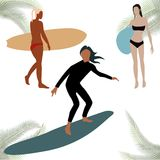 kolorowe postacie sihouettes kipiel Obrazy Royalty Free