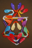 kolorowe projektu abstrakcyjne Fotografia Stock