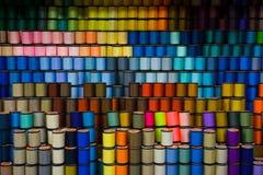 kolorowe przędzy Zdjęcia Stock