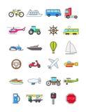 Kolorowe przewiezione ikony ustawiać ilustracji
