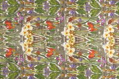 Kolorowe pstrobarwne tkaniny Obrazy Royalty Free