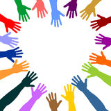 Kolorowe ręki royalty ilustracja