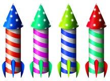 Kolorowe rakiety Zdjęcia Stock