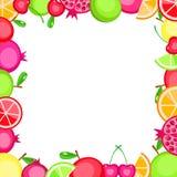 kolorowe ramowe owoc Fotografia Stock