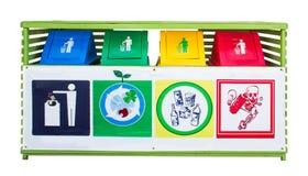 kolorowe recyklingu bin Zdjęcia Stock